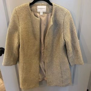 Light evening jacket with sparkle detail